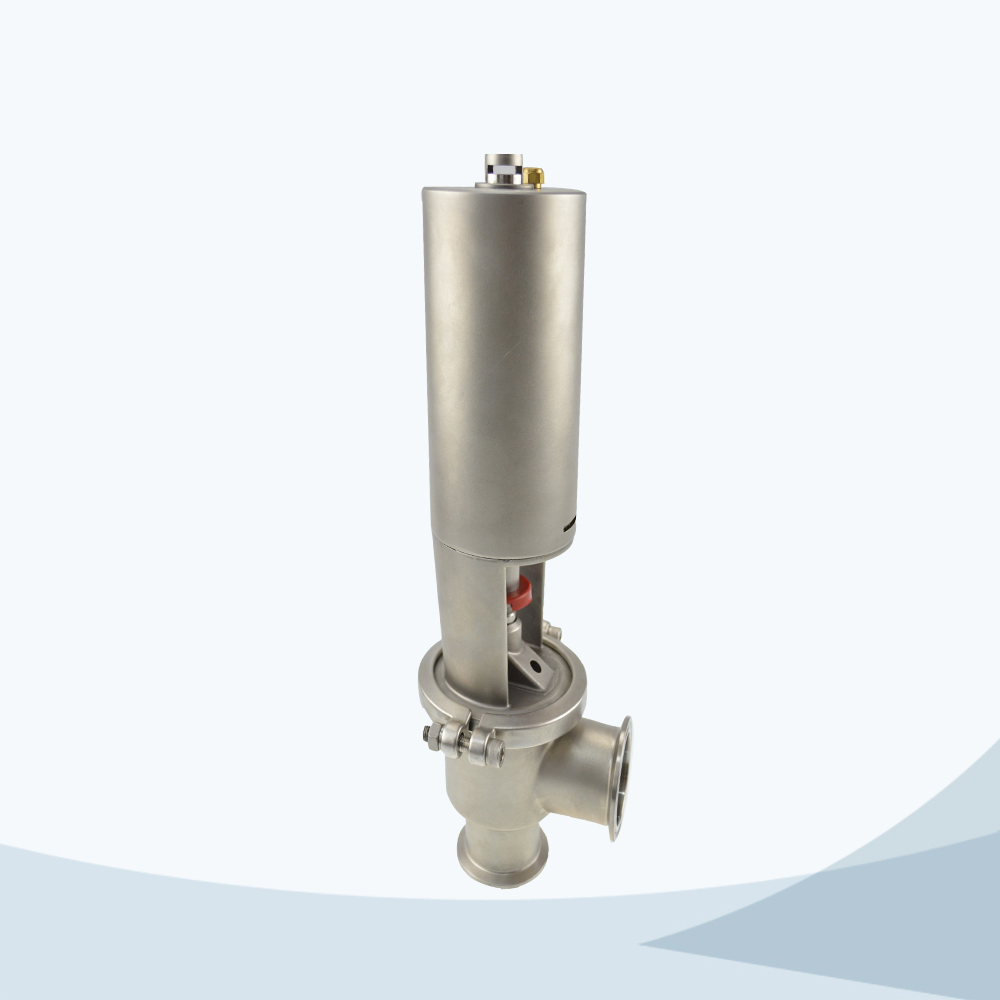 stainless steel pneumatic food grade cut-off valve