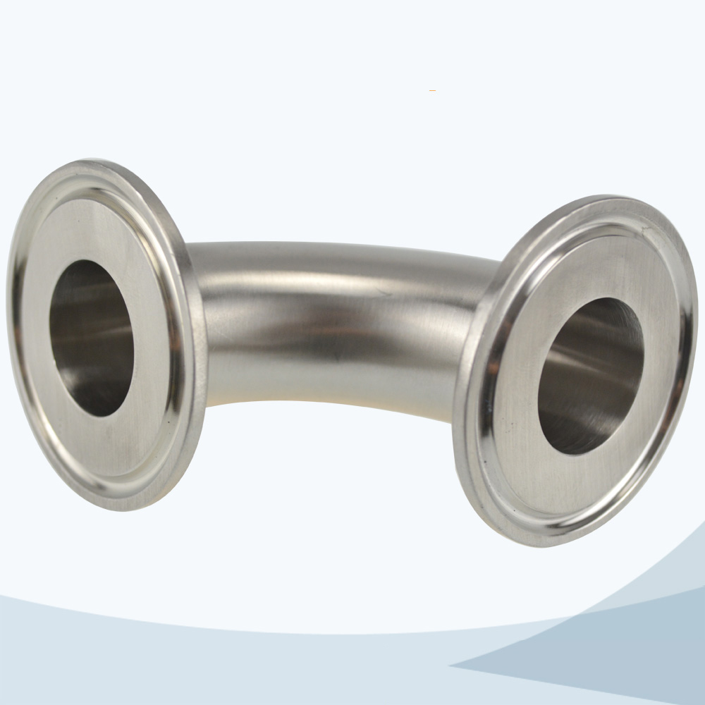 stainless steel sanitary grade 2CMP 90D triclover elbow