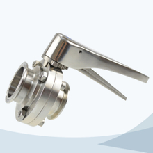 stainless steel sanitary grade clamped multi position gripper butterfly valve
