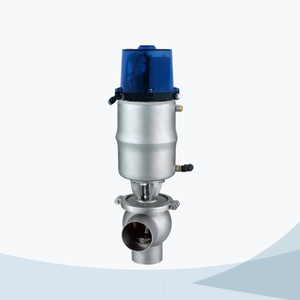 stainless steel sanitary welded pneumatic cut-off valve with c top