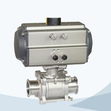 Sanitary pneumatic 3piece ball valve