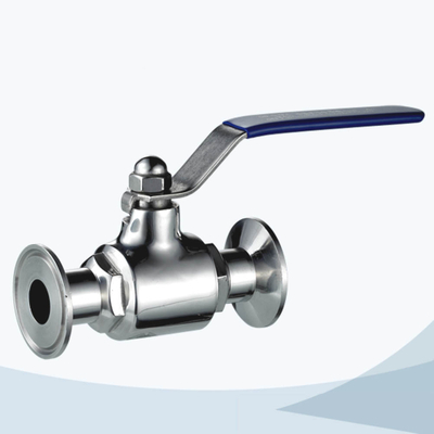 stainless steel food equipment manual tri-clamped straight way ball valve