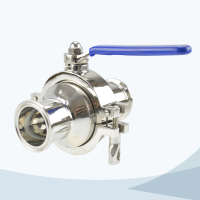 stainless steel food processing tri- clamped manual type non retention ball valve