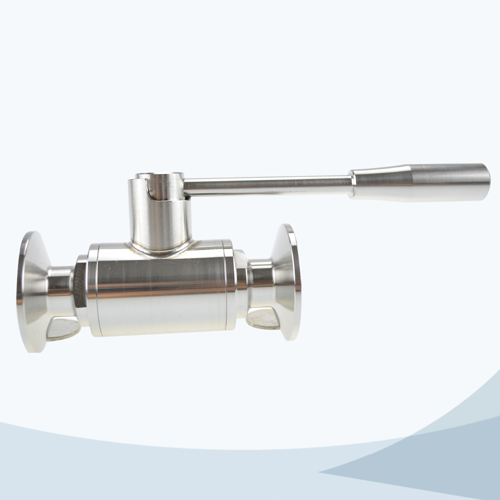 stainless steel food grade clamped 2 way ball valve