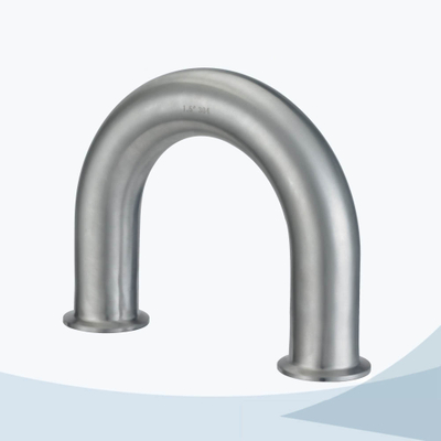 stainless steel hygienic grade 2WUMP 180D U type welded elbow