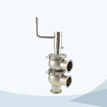 stainless steel hygienic manual type 3 way divert valve