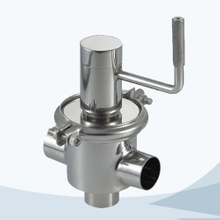 stainless steel food grade manual type 3 way cut-off valve