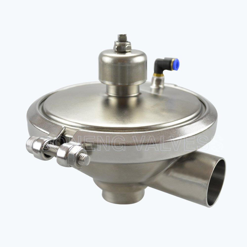 stainless steel hygienic CPM air operated back pressure valve