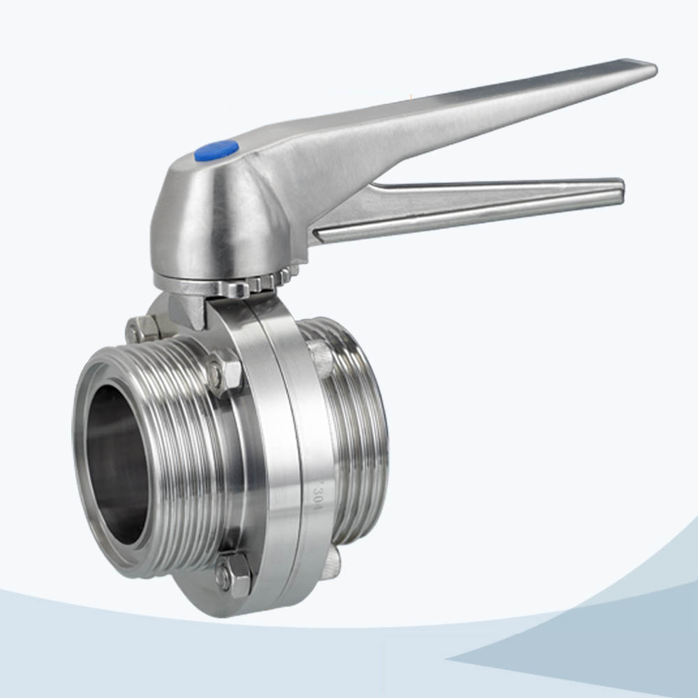 stainless steel food grade aluminium actuated butterfly valve with limit switch