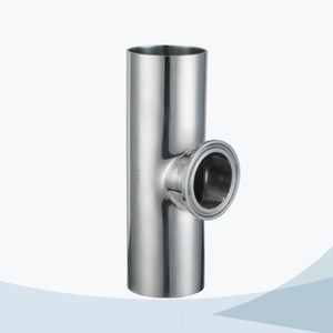 stainless steel sanitary short outlet clamped reducing tee