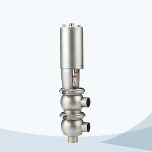 stainless steel sanitary pneumatic flow change over valve
