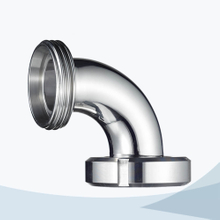 stainless steel food processing 90D male-nut elbow