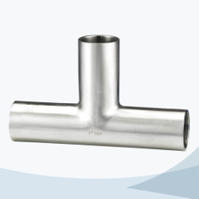 stainless steel food equipment butt weld equal tee