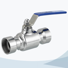 stainless steel hygienic female threading straight way ball valve