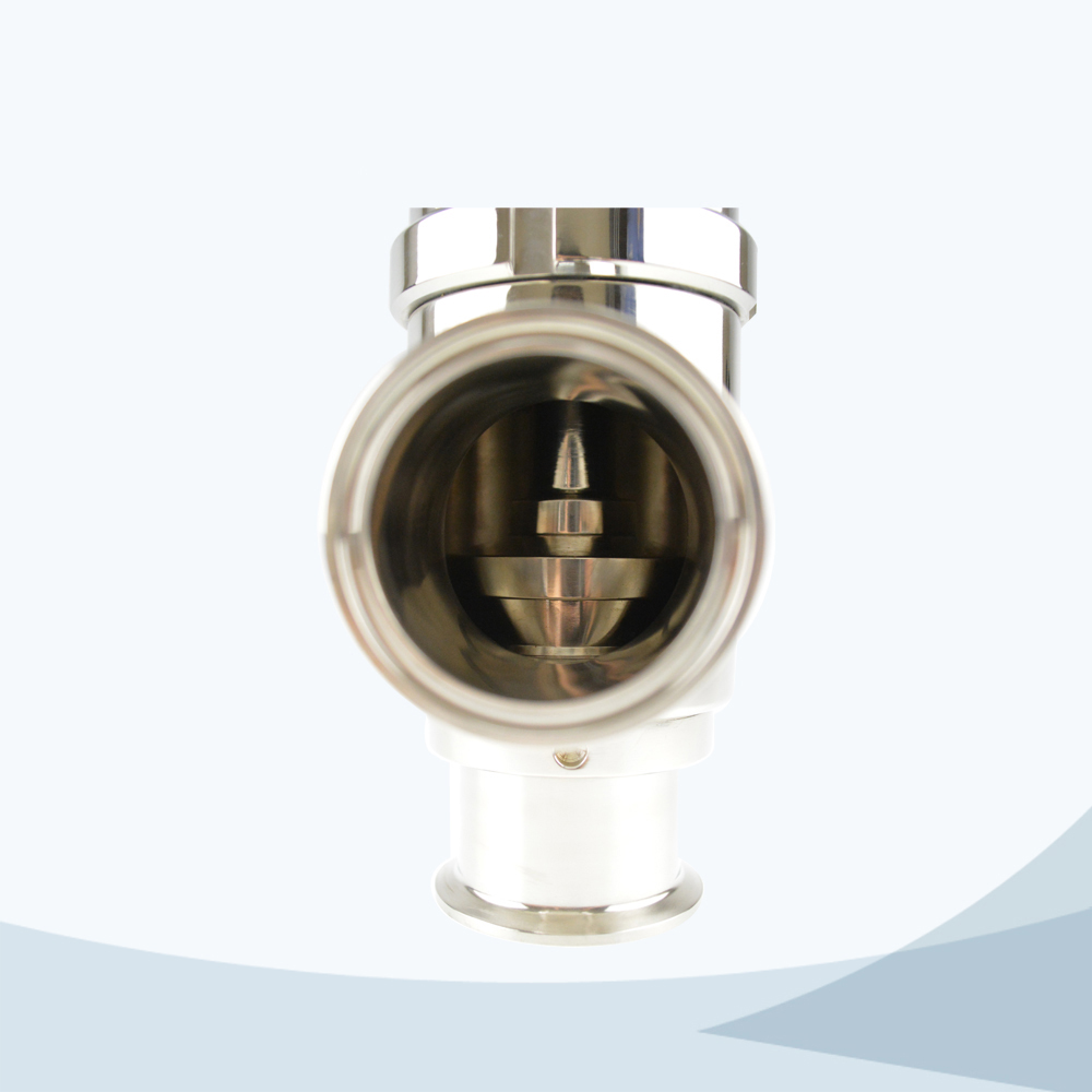 stainless steel sanitary grade line type pressure relief valve