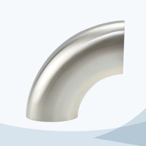 stainless steel food grade 2WCL welded short 90D bend