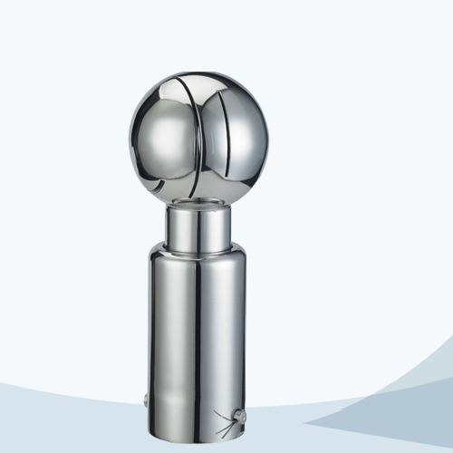 Sanitary clamped connection rotary cleaning ball