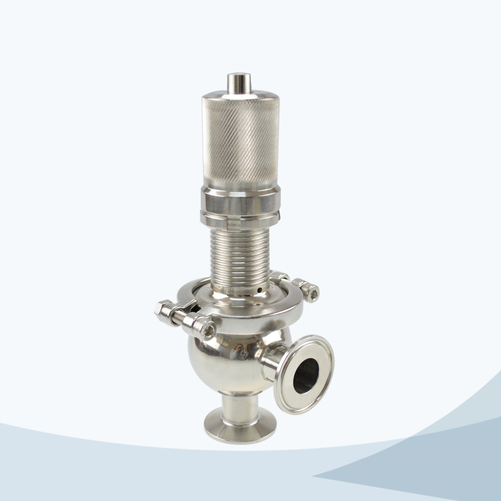 stainless steel food grade ball type pressure relief valve