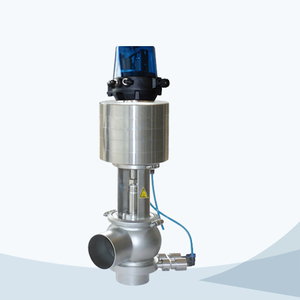 stainless steel sanitary grade single seat mixproof valve