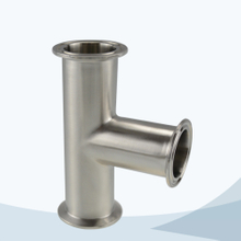 stainless steel hygienic grade 7MP clamped equal tee