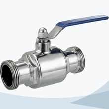Stainless Steel Sanitary grade 2 way male threaded ball valve