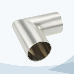 stainless steel hygienic grade butt weld straight 90D bend