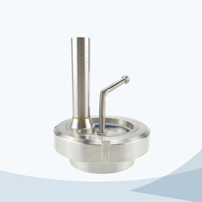stainless steel sanitary sight glass with LED light & brush