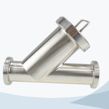 stainless steel hygienic grade male connection Y type filter