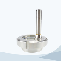 stainless steel hygienic union type sight glass with LED light