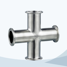 stainless steel food grade clamped equal cross