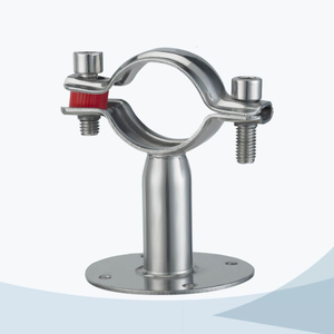 stainless steel sanitary grade TH7 round pipe clamp with base plate