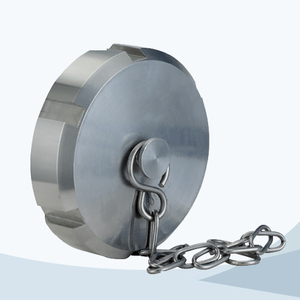 stainless steel food processing solid end cap with chain