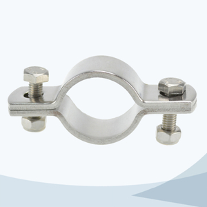 stainless steel hygienic grade round pipe clamp